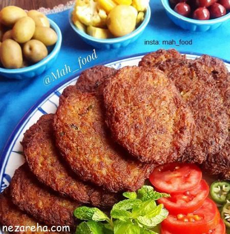 شامی , طرز تهیه شامی , شامی کباب , کتلت , کتلت با گوشت , ahld , ;jgj