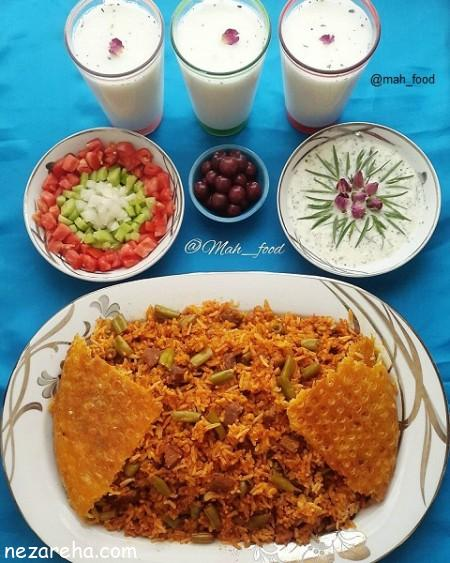 لوپیا پلو , طرز تهیه لوپیا پلو , لوبیا پلو مجلسی , لوپیا بلو با گوشت , آموزش لوبیا پلو