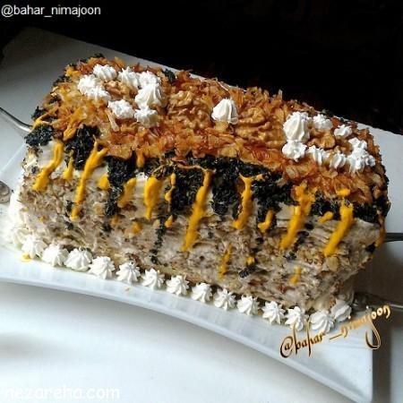 کیک کشک بادمجان , طرز تهیه کیک کشک بادمجان , آموزش کیک کشک و بادمجان